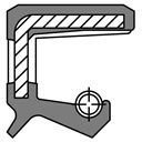 Wellendichtungsring NBR DIN 3760 mit Staublippe