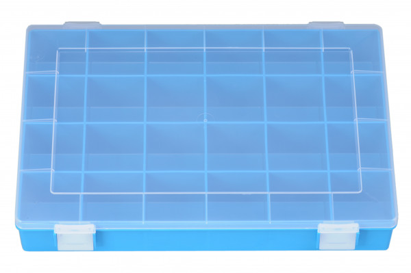 Sortimentskasten PP Classic 24 Fächer blau 335 x 225 x 55 mm