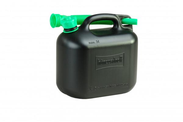 Kraftstoffkanister Classic 5 Liter, HD-PE,schwarz, RKK-Zulassung,