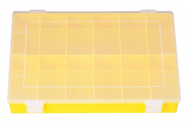 Sortimentskasten PP Classic 12 Fächer, gelb 335 x 225 x 55 mm