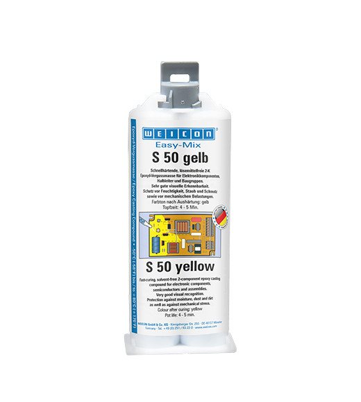 WEICON EASY-MIX S 50 50 ML Farbe Gelb