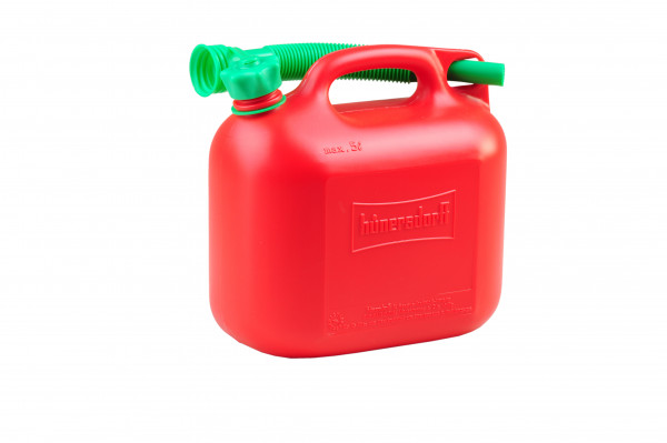 RES-KANISTER #8120 , PE, 5 L , ROT, MIT AUSLAUFROHR