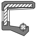 Wellendichtungsring VITON DIN3760 ohne Staublippe, Ausführung mit Nirofeder !!