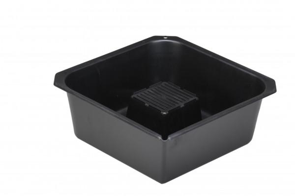 Öl Ablasswanne 9 Liter, HD-PE, schwarz 350 x 350 x 135 mm